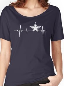 Dallas Cowboys Heartbeat Women's Relaxed Fit T-Shirt