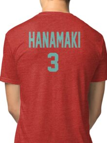 Haikyuu!! Jersey Hanamaki Number 3 (Aoba) Tri-blend T-Shirt
