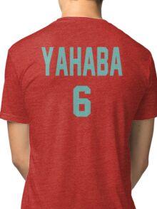 Haikyuu!! Jersey Yahaba Number 6 (Aoba) Tri-blend T-Shirt
