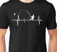 Fishing heartbeat Unisex T-Shirt
