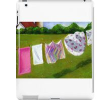 Laundry on the Line: Original Pastel Art, Country Summer iPad Case/Skin