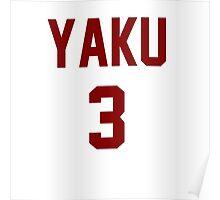 Haikyuu!! Jersey Yaku Number 3 (Nekoma) Poster