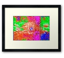 Colourful Abstract Texture Framed Print