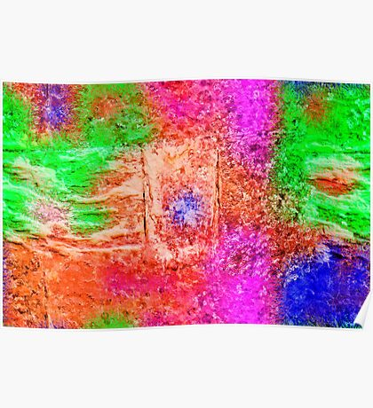 Colourful Abstract Texture Poster