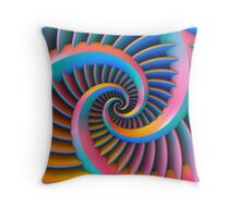 Opposing Spiral Pattern in 3-D Throw Pillow