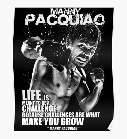 Boxing - Manny Paquiao Quotes Poster