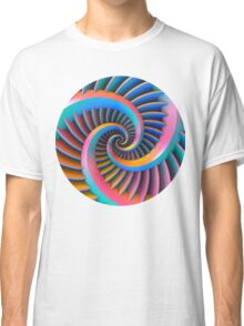 Opposing Spiral Pattern in 3-D Classic T-Shirt