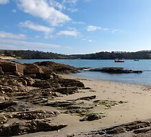 Beach Scene at St Mawes, Cornwall by trish725