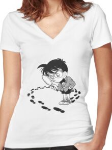 detective conan Women's Fitted V-Neck T-Shirt