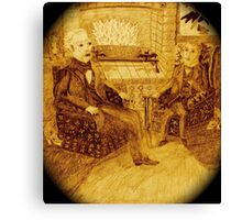 A Friendly Chat In Front Of The Roaring Fire, Surrounded By More Rats And Bats Canvas Print