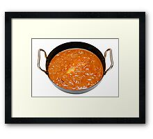 Balti Butter Chicken in Karahi Framed Print