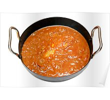 Balti Butter Chicken in Karahi Poster