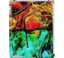 Abstract in Red and Blue iPad Case/Skin