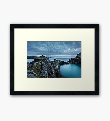 The Blue Lagoon...Abereiddy, Pembrokeshire. Framed Print