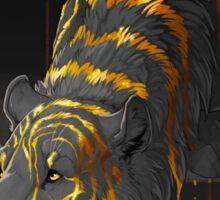 molten tiger Sticker
