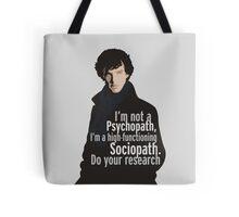 Sherlock - Psychopath/ Sociopath Tote Bag