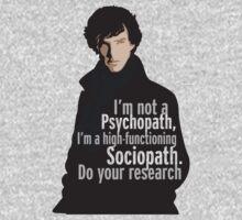 Sherlock - Psychopath/ Sociopath Kids Tee