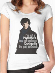 Sherlock - Psychopath/ Sociopath Women's Fitted Scoop T-Shirt
