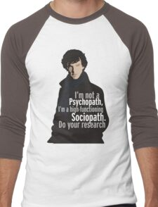 Sherlock - Psychopath/ Sociopath Men's Baseball ¾ T-Shirt