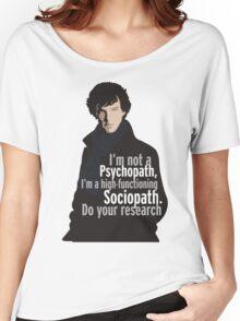Sherlock - Psychopath/ Sociopath Women's Relaxed Fit T-Shirt