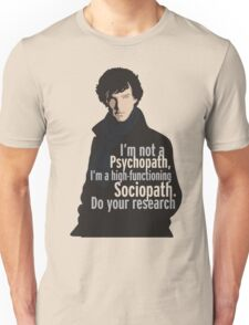 Sherlock - Psychopath/ Sociopath Unisex T-Shirt