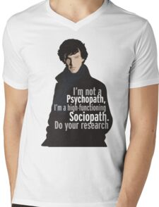 Sherlock - Psychopath/ Sociopath Mens V-Neck T-Shirt