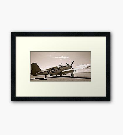 Tuskegee P-51 Mustang Vintage Fighter Plane Framed Print