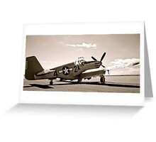 Tuskegee P-51 Mustang Vintage Fighter Plane Greeting Card