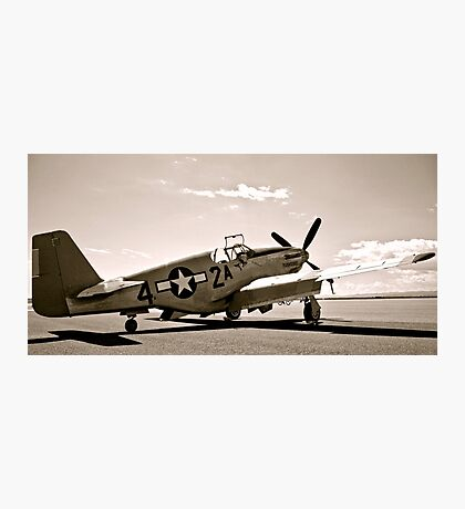 Tuskegee P-51 Mustang Vintage Fighter Plane Photographic Print