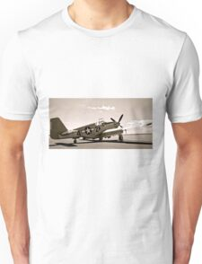 Tuskegee P-51 Mustang Vintage Fighter Plane Unisex T-Shirt