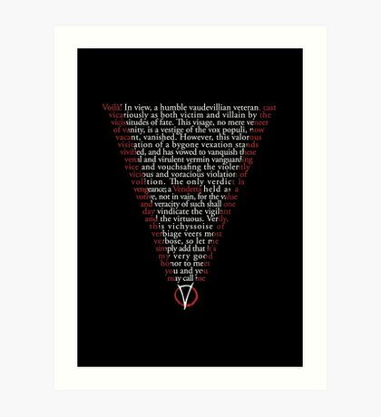 V for Vendetta - Who are you? Art Print