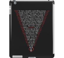 V for Vendetta - Who are you? iPad Case/Skin