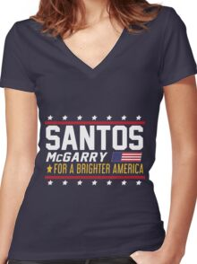 Santos and McGarry Campaign Poster from West Wing Women's Fitted V-Neck T-Shirt