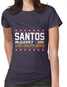 Santos and McGarry Campaign Poster from West Wing Womens Fitted T-Shirt