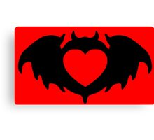Clandestine Bat (Black)  Canvas Print