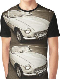 White convertible MG Graphic T-Shirt