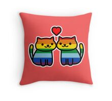 Neko Atsume Gay Pride Merch Throw Pillow