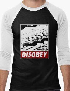 Tank Man- Disobey Men's Baseball ¾ T-Shirt