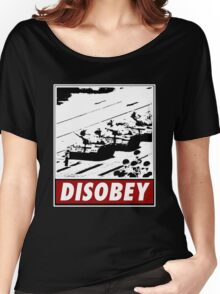 Tank Man- Disobey Women's Relaxed Fit T-Shirt