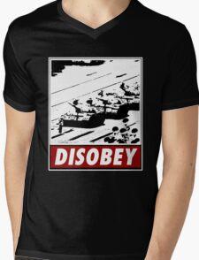 Tank Man- Disobey Mens V-Neck T-Shirt