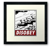 Tank Man- Disobey Framed Print