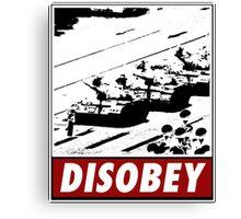 Tank Man- Disobey Canvas Print
