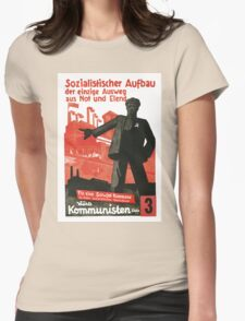 Socialist Construction Womens Fitted T-Shirt