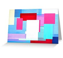 Coloured Squares Greeting Card
