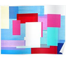 Coloured Squares Poster