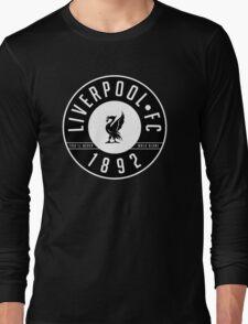 Liverpool FC - 1892 BLACK & WHITE Long Sleeve T-Shirt