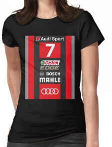 Audi R18 e-tron #7 LeMans 2016 Womens Fitted T-Shirt