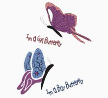 Girl Butterfly - Boy Butterfly T-shirt, etc. design One Piece - Long Sleeve