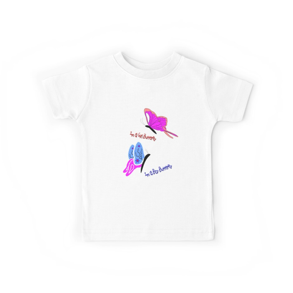 Girl Butterfly - Boy Butterfly T-shirt, etc. design by Dennis Melling