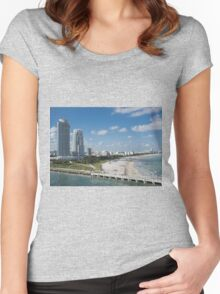 Miami Beach Women's Fitted Scoop T-Shirt